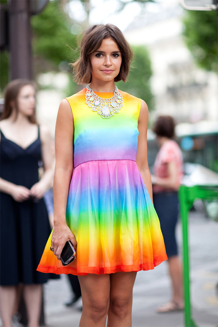 Mixed color fashion