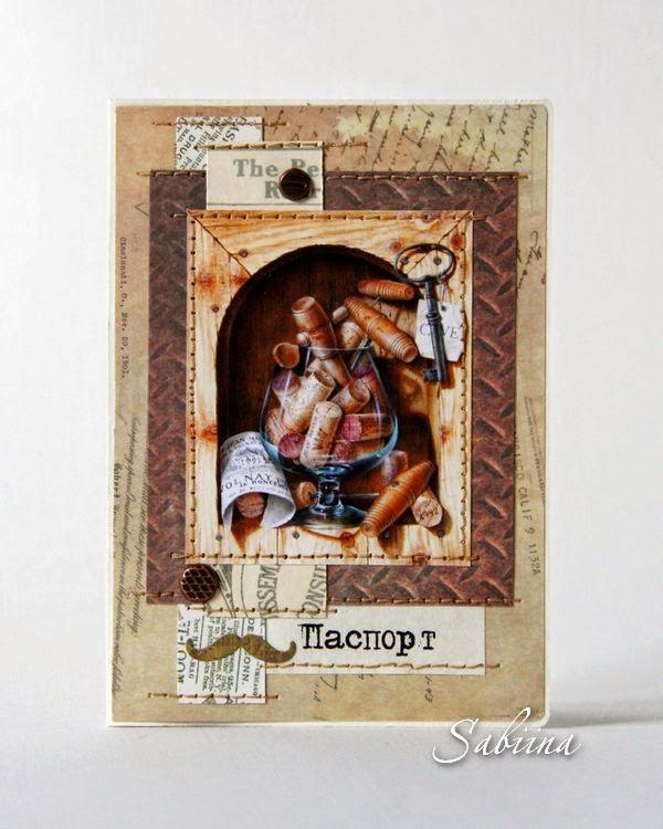 Обложка для паспорта, подарок любимому мужчине, ручная работа, своими руками, сувенир, на праздник