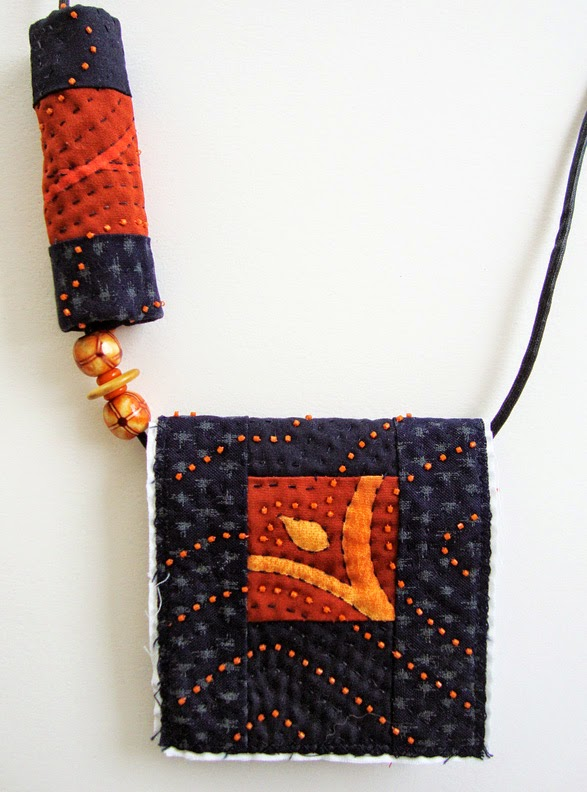 Robin Atkins bead quilt necklace, design process