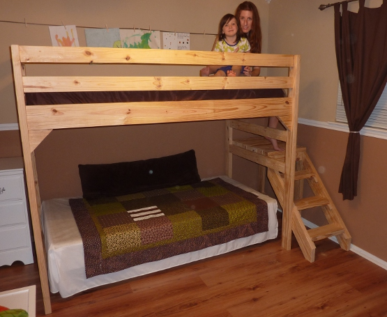 REHOBOTH FARM: DIY - Building a Loft Bed with Stairs - A DIY Family ...