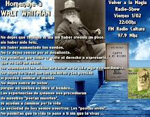 "Homenaje a Walt Whitman (1819-1892) ""Canto a mi mismo"""