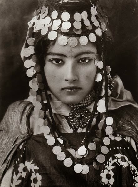 A beautiful portrait of a young Berber woman from Tunisa