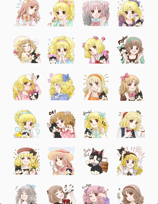 Rebecca Bonbon By Igarashi Yumiko line stickers