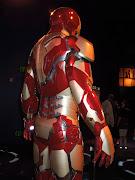 Iron Man 3 Mark 42 armour on display.