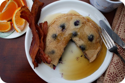Blueberry <i>(or regular)</i> Sourdough Pancakes