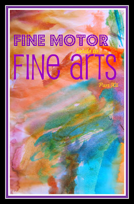 photo of: Fine motor development for Fine Arts, preschool paintings, kindergarten Artwork display, bulletin board of Art