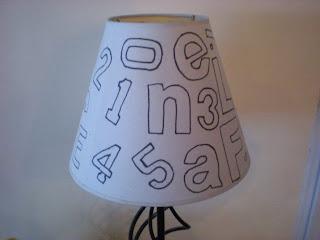stencil lampshade diy
