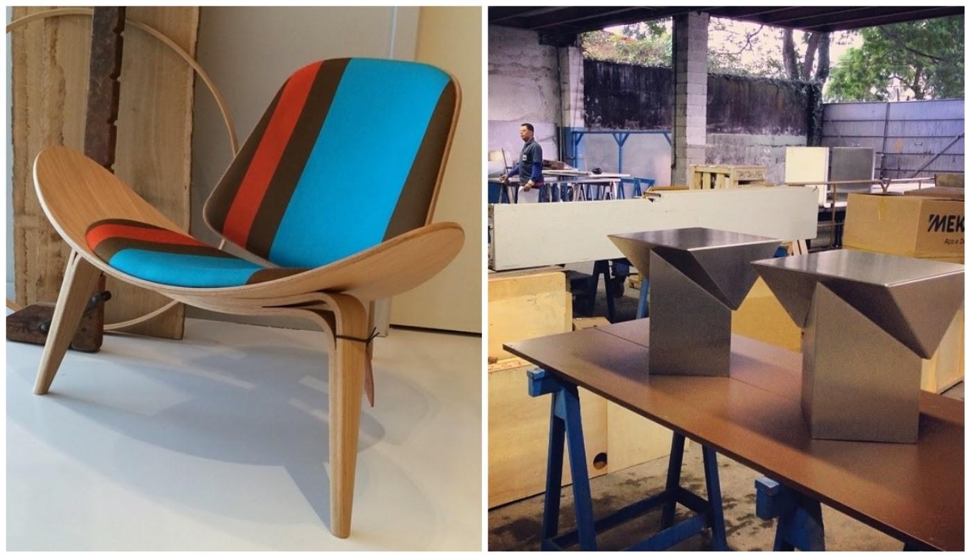 "Cadeira Shell @moblerlab bancos ""prisma"" @zaninidezanine"