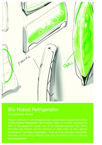 The intersections beyond electrolux design lab 2011 for Bio robot fridge cost