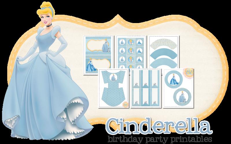 Imprimible gratis de Cenicienta - Fiesta de princesas