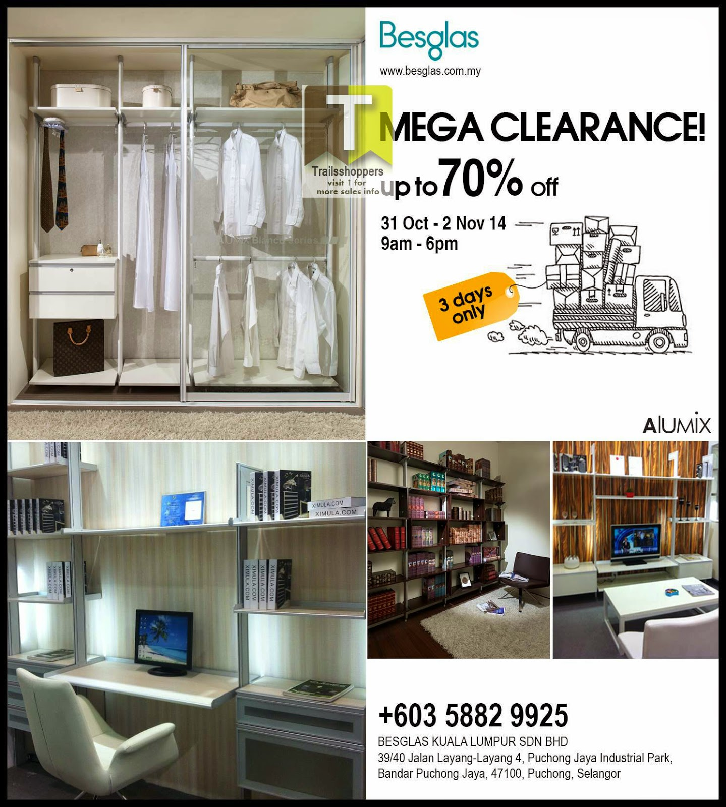 Besglas Mega Clearance up to 70% off puchong