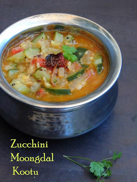 Zucchini Moongdal Kootu, Easy Zucchini Kootu