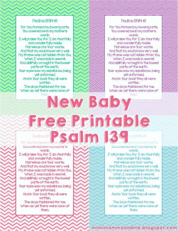 Baby Verse Psalm 139 - Free Printable