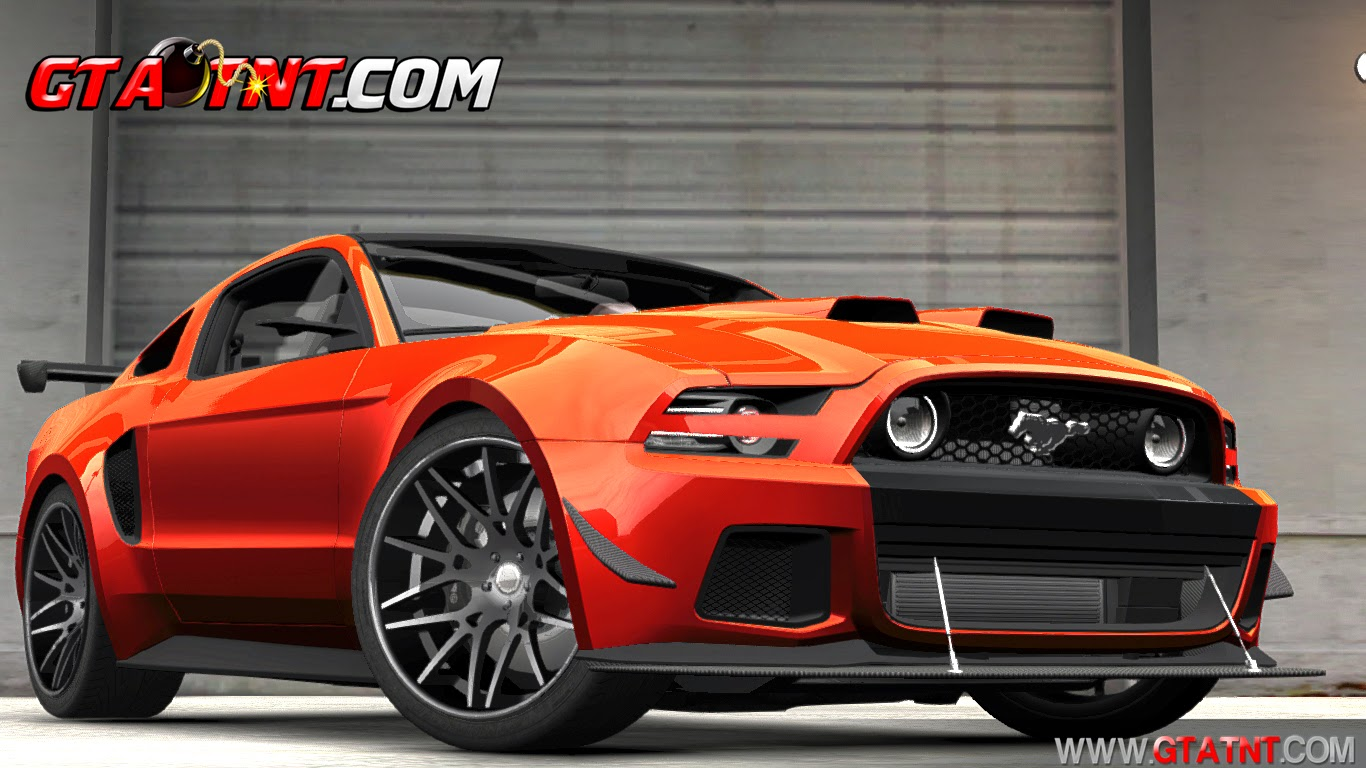 Ford Mustang GT 2014 Custom Kit para GTA 4