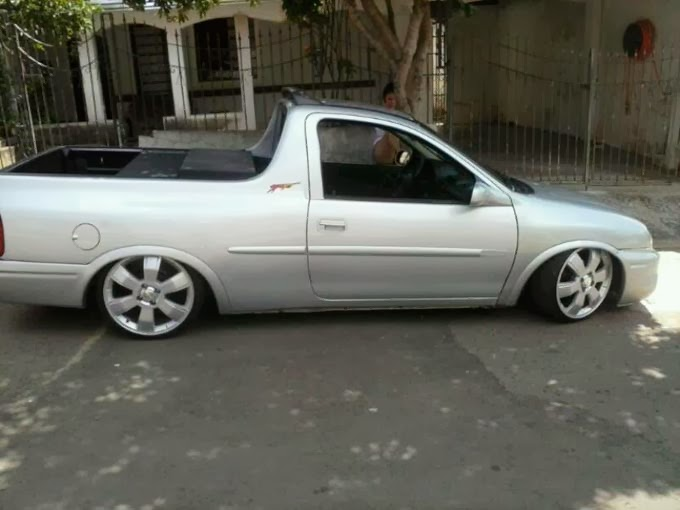 Pick up Corsa Rebaixada rodas 17""