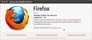 Noticia: Firefox 11 en los repositorios de Ubuntu 11.10