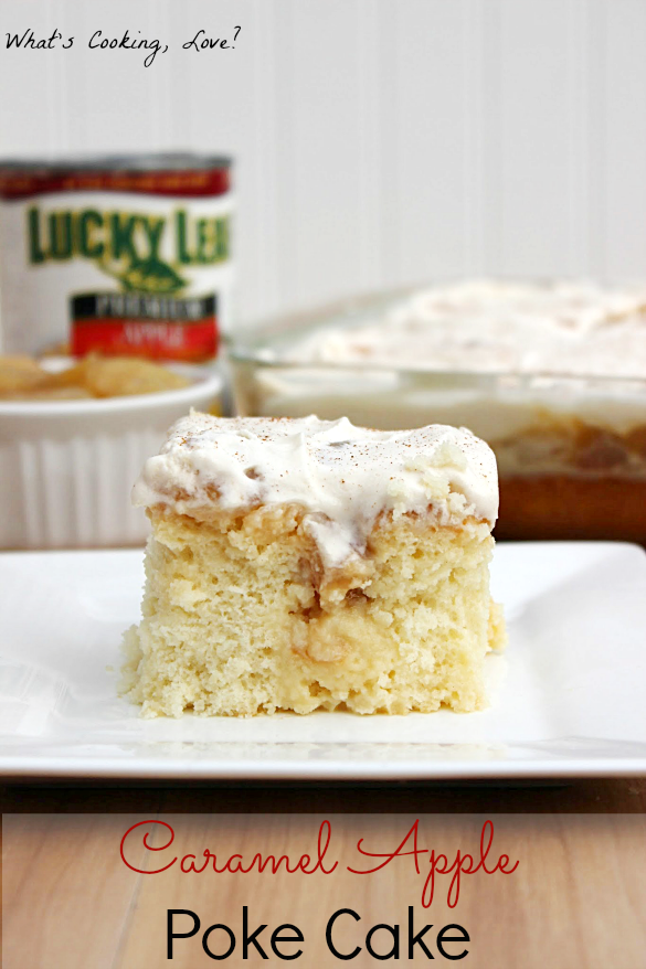 Caramel Apple Poke Cake
