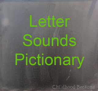 Letter Sounds Pictionary