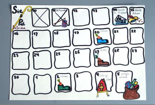Sinterklaas countdown calendar