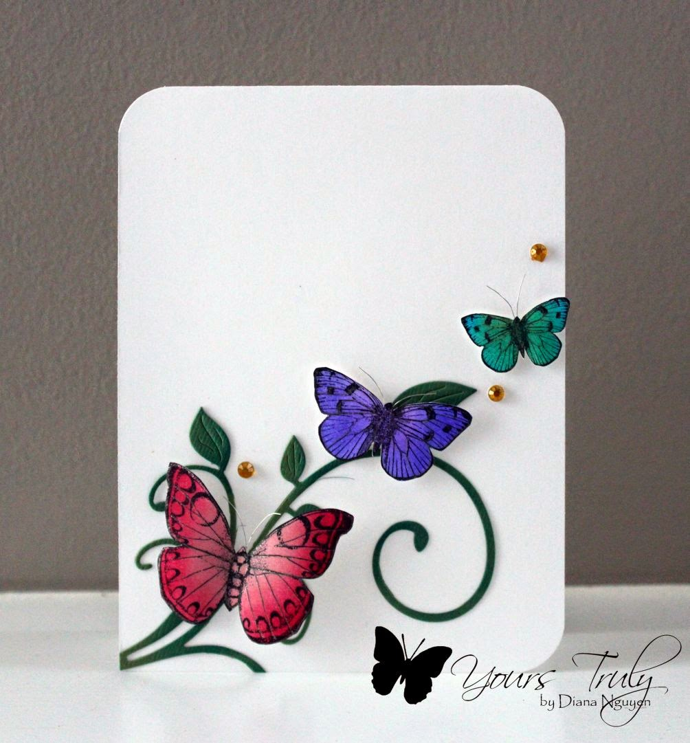 Diana Nguyen, Hero Arts, butterflies, card