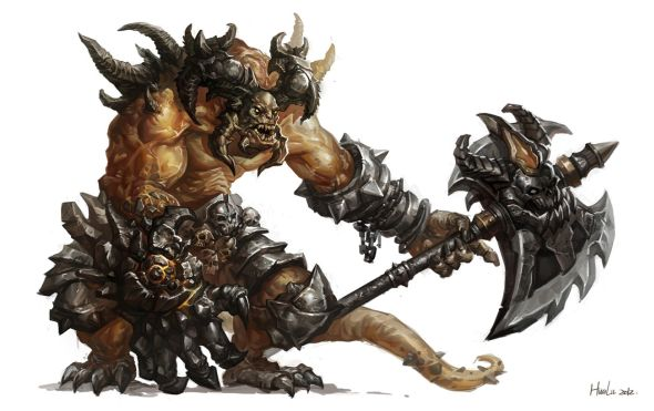 Lu Hua illustrations concept arts fantasy games Monsters concept arts