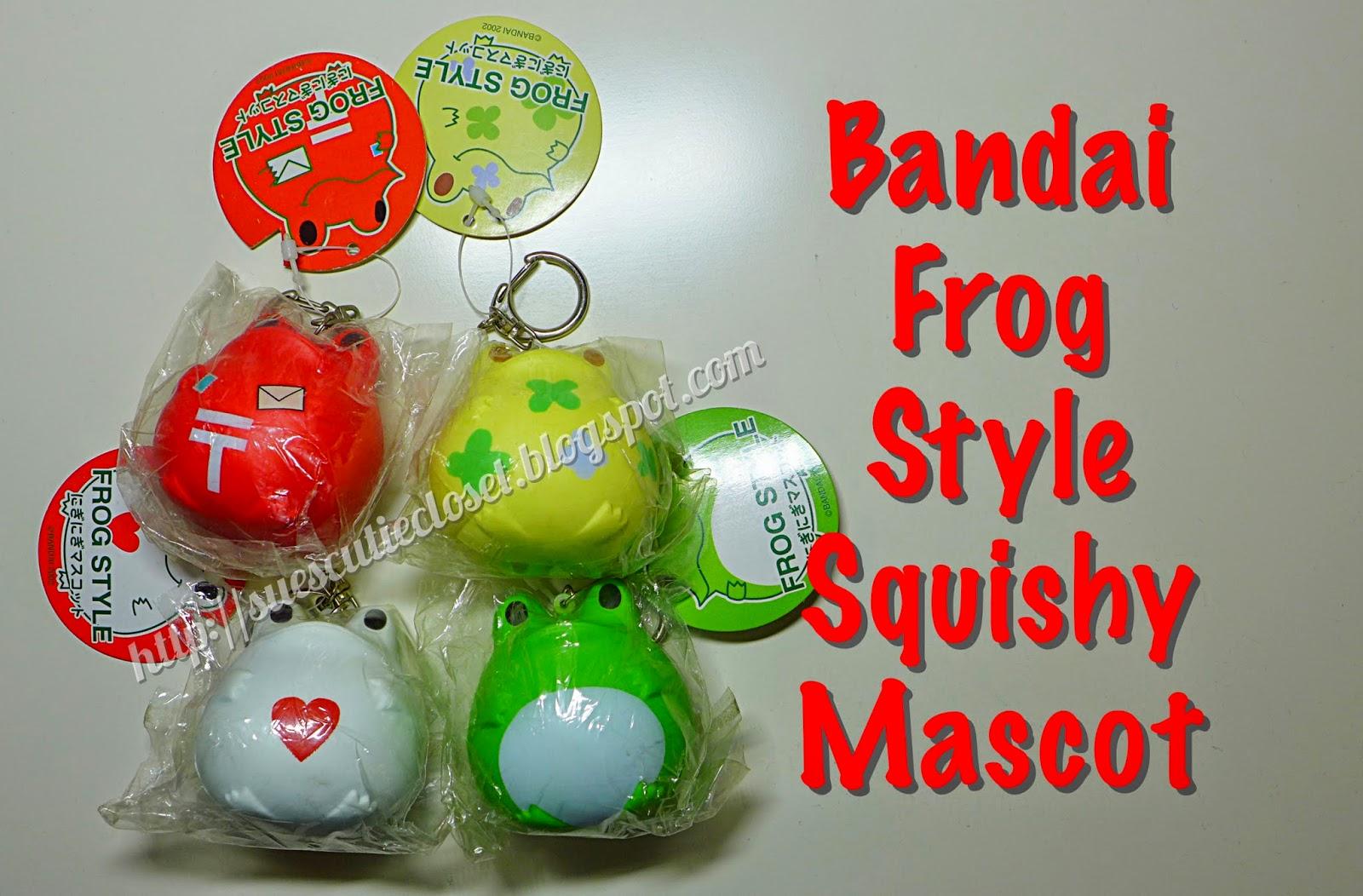 Squishy Haul Blog : Sue s Cutie Closet : Squishy Haul: Bandai Frog Style Squishy Mascot