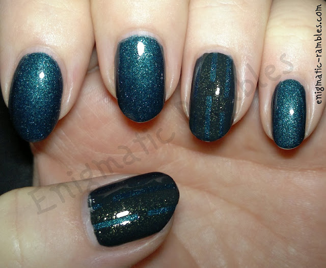 green-striping-tape-nails-nail-art-opi-live-and-let-die-barry-m-forest-silk