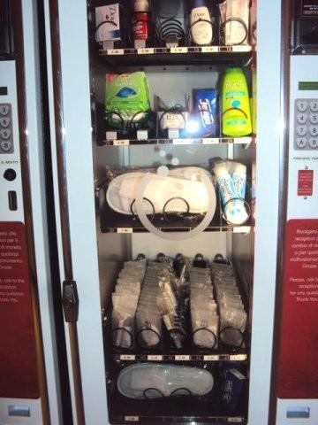 Distributore automatico ciabatte
