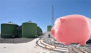 Giant pig waste biogas plant - artist impression