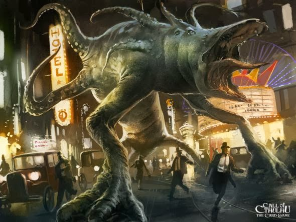 Ignacio Bazán Lazcano neisbeis deviantart illustrations card games fantasy Call of Cthulhu card game - Horrific Shoggoth