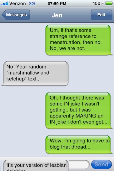 Dirty lesbian texts