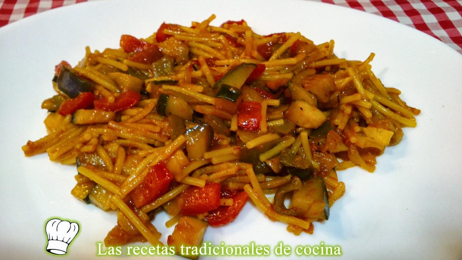 Receta de fideu de verduras f cil y r pida recetas de - Cocina rapida y facil ...