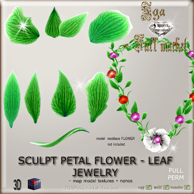 SCULPT PETAL FLOWER - LEAF JEWELRY