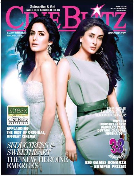 Katrina Kapoor Cineblitz cover girls - Katrina Kareena Cineblitz Cover Scan