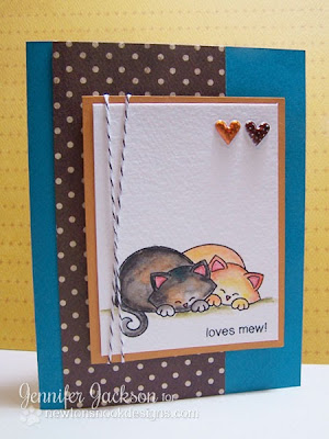 Loves mew cat card by Newton's Nook Designs