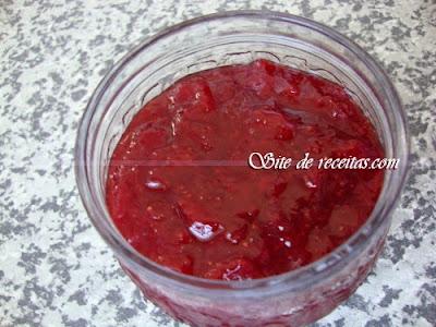 Geléia de morango diet
