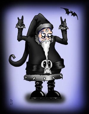 Goths de Noel.  Goth_santa_rules_by_aliencatx