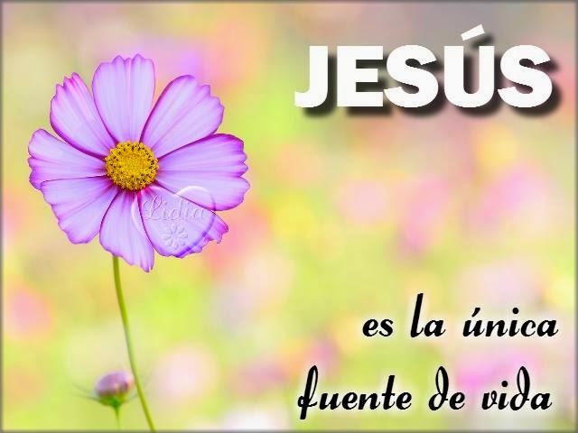 Postal y devocional cristianos con mensaje de creerle a Jesús