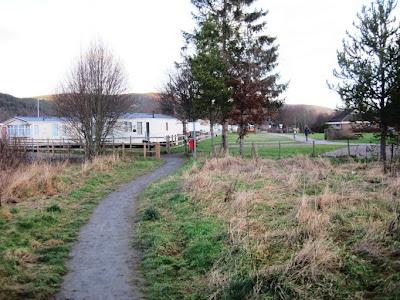 Deeside walks: the walk around Ballater Golf Course approaches the caravan park