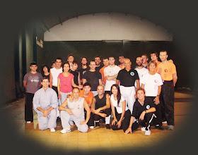 Alumnos de kung fu y Taichi