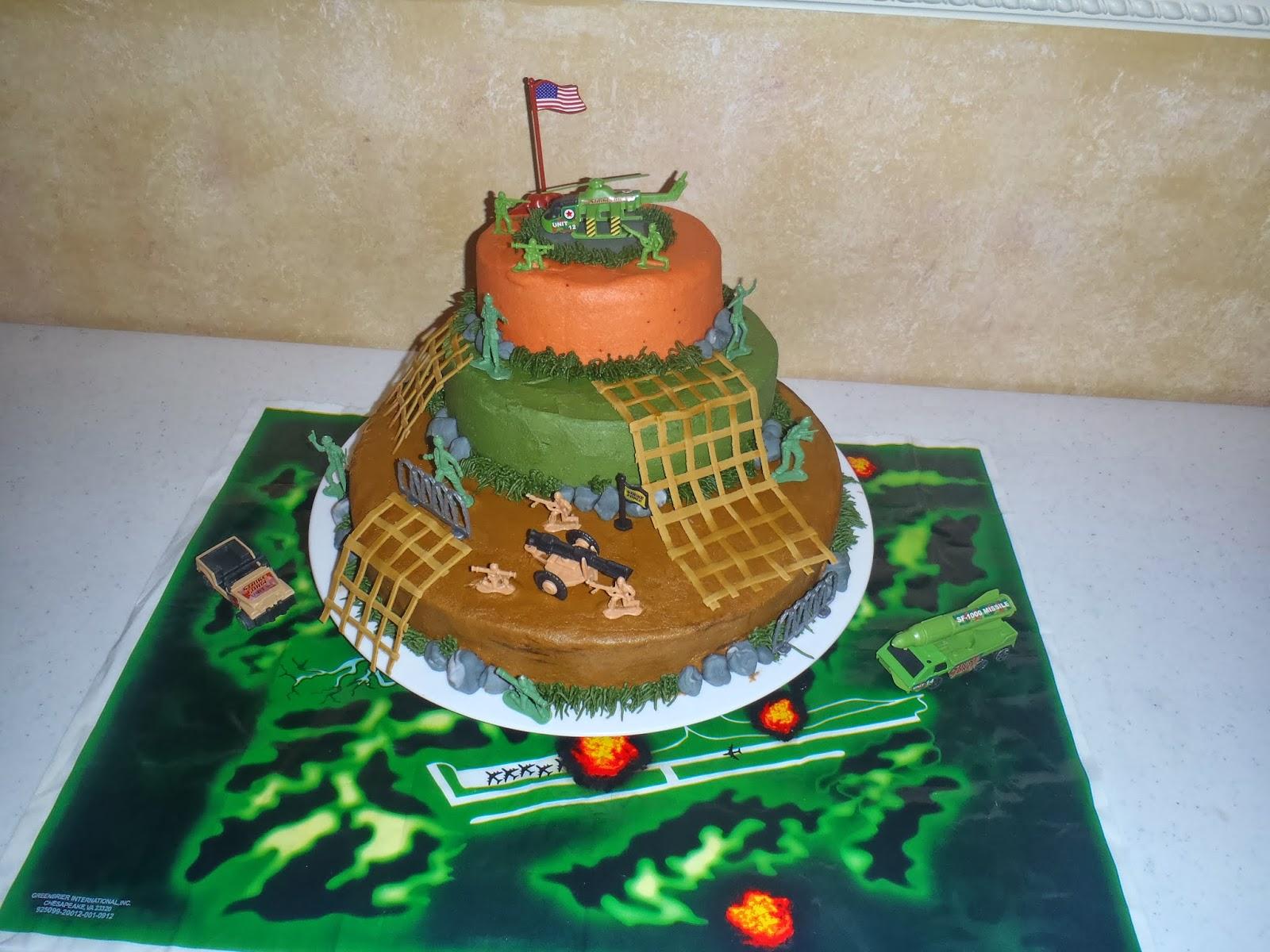 Dessert Divas Kitchen Deacons Army Man Birthday Cake 2010