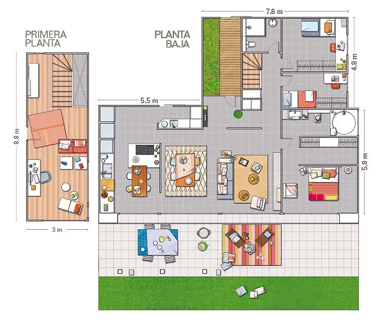 Casas modernas una casa unifamiliar - Planos casas unifamiliares ...