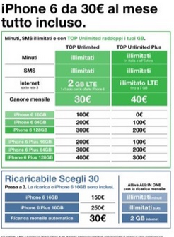 offerta 3 iphone 6 30 euro