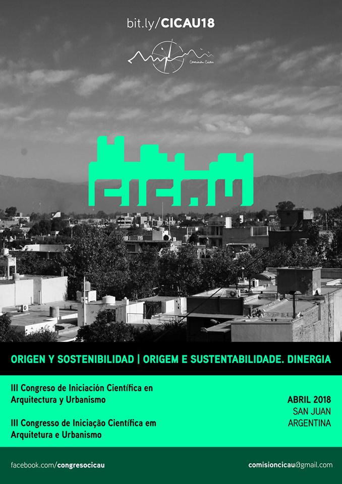 III CONGRESO DE INICIACIÓN CIENTÍFICA EN ARQUITECTURA Y URBANISMO