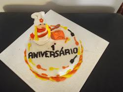 Um bolo para o primeiro aniversário do blog