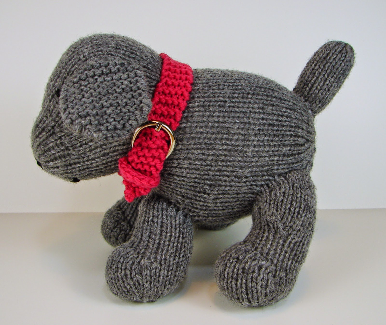 knit dog toy stuffed pattern