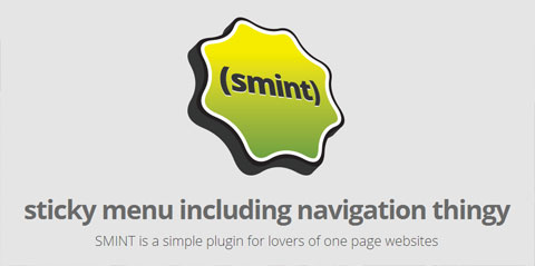 jQuery Sticky Menu With Smooth Scroll – Smint