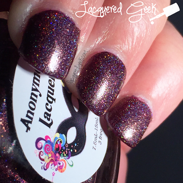 Anonymous Lacquer Fangalicious 2.0 nail polish swatch from Lacquered Geek