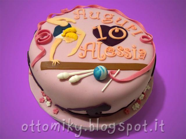 Otto miky torta ginnastica artistica per alessia for Decorazione torte ginnastica ritmica