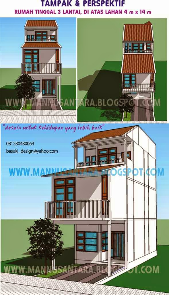 tantangan dalam solusi desain rumah tinggal 3 lantai di